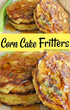 Corn Cake Fritters - My list of simple and healthy recipes Cornmeal Recipes, Corn Fritter Recipes, Creamed Corn Fritters Recipe, Vegan Corn Fritters, Corn Fritters Recipe With Pancake Mix, Corn Flour Recipes, Jiffy Mix Recipes, Sweet Corn Fritters, Jiffy Cornbread Recipes