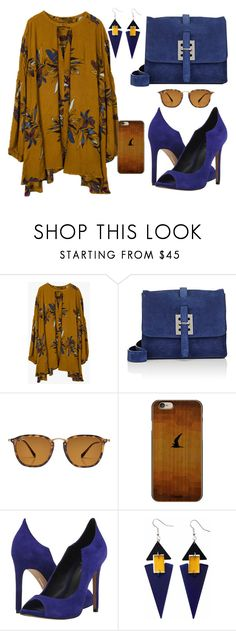 """""""Blue Suede Shoes"""" by katleenm ❤ liked on Polyvore featuring Fontana Milano 1915, Ray-Ban, Casetify, Dolce Vita and Toolally"""