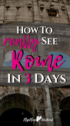 Planning a Roman holiday with limited time? This 3 day Itinerary will guide you through the best things to do in Rome in 3 days. Rome Travel, Italy Travel, Travel With Kids, Family Travel, 3 Days In Rome, All About Italy, European Vacation, Rome Italy, Amazing Destinations