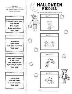 inferring riddles lift the flap halloween u0026 first grade