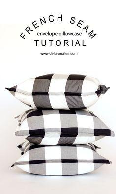 French Seam Envelope Pillowcase Tutorial // www.deliacreates.com