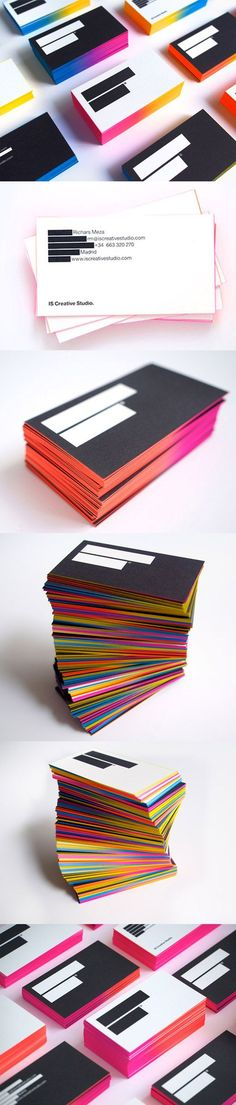 Business cards like this...  Gradient Edge Painted Business Card Design