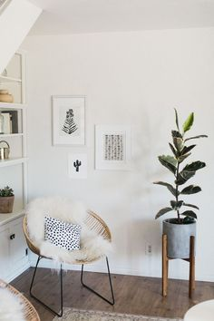 SummerSunHomeArt.Etsy.Com - Inspiration | Minimalist Home Decor Ideas, DIY, White Interior, Modern Vintage, Bedroom, Living Room, Apartment, black and white wall art, art prints, minimalist wall art, minimalist art prints, home art, gallery wall, rattan chair, faux fur, house plant, mid century modern decor #diymoderndecor