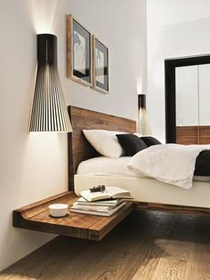 Wooden suspension nightstand design for the modern bedroom | www.bocadolobo.com #bocadolobo #luxuryfurniture #bedroom #exclusivedesign #interiodesign #designideas #nightstandideas #bedroomdesign #modernnightstands #woodenightstand #suspensionnightstand