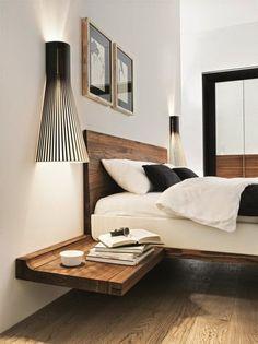 Wooden suspension nightstand design for the modern bedroom   www.bocadolobo.com #bocadolobo #luxuryfurniture #bedroom #exclusivedesign #interiodesign #designideas #nightstandideas #bedroomdesign #modernnightstands #woodenightstand #suspensionnightstand