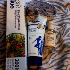 At home bodywrap. Lose inches in an hour. Mix vitamin E oil and (clay)farewell cellulite and rub where u wanna lose inches. Wrap tight with plastic wrap. Wrap up in warm blankets and sit for one hour. You will sweat and release toxins. Drink lots of water after. Might have to try. - Click image to find more Hair & Beauty Pinterest pins