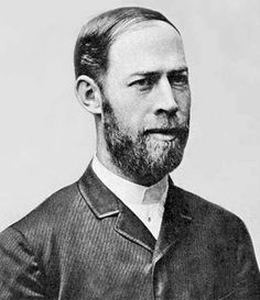 "Heinrich Hertz (1857–1894) was a German physicist who expanded Maxwell's electromagnetic theory of light, which was 1st demonstrated by Hughes using non-rigorous procedures. Hertz is distinguished from Maxwell & Hughes because he was the 1st to conclusively prove the existence of electromagnetic waves by engineering instruments to transmit & receive radio pulses using procedures that ruled out all other wireless phenomena. The unit of frequency (cycles/second) was named the ""hertz."""