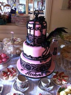 Birdcage cake Cake by Barbarac