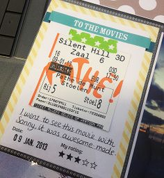 love this Project Life printable freebie - perfect for attaching a movie ticket stub! | Dainty Designs