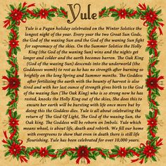 Yule is a pagan holiday celebrated on the winter solstice the longest night of the year. Every year the two great sun gods, the god of the waxing sun and the god of the waning sun, fight for supremey in the skies. Winter Equinox, Solstice And Equinox, Summer Solstice, Yule Traditions, Winter Solstice Traditions, Christmas Traditions, Christmas Yule Log, Christmas Time, Vintage Christmas