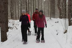 Snowshoeing at the WinMan Trails