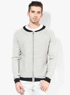 Buy Incult Mid Grey Knitted Men's Casual Jacket @ Looksgud.in    #Gray, #Jacket, #Knitted, #WinterWear, #MensFashion