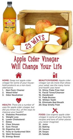 25 Ways Apple Cider Vinegar Will Change Your Life!