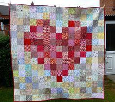 Pixelated Heart Quilt 002