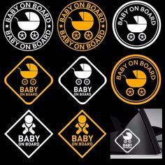 SHEETRO (Baby on Board) Reflector Sticker Decal Stroller 3M or AVERY Sheet #SHEETRO