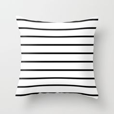 Buy Thin Black Stripe Pattern by RexLambo as a high quality Throw Pillow. Worldwide shipping available at Society6.com. Just one of millions of products available.