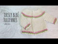 Tutorial Jersey Bebé Ganchillo o Crochet con Tulipanes - YouTube