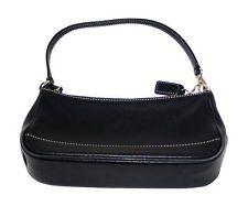 Coach Handbag Black Clutch Small Purse Baguette Wristlet Leather Wallet My 1st Purses