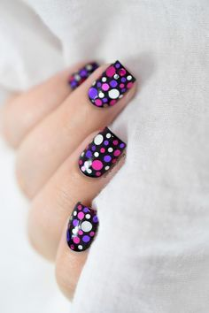 Look at my Sweet New Confetti Nail Design - Reny styles