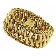 1960s 18k Yellow Gold Bracelet
