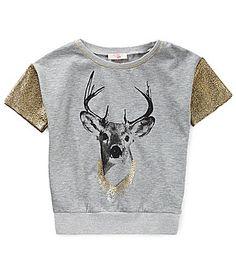 GB Girls 716 Boxy Deer Tee #Dillards