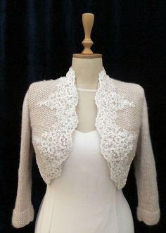 Private Listing Bridal Bolero por crochetbutterfly en Etsy