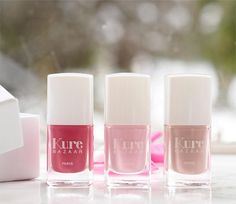 Kure Bazaar New Shades Nail Colors, Colours, Clean Beauty, Mani Pedi, Organic Beauty, Pink Nails, Nail Polish, Shades, British