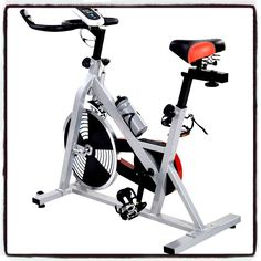 Indoor Exercise Bicycle Bike Cycling Health Fitness Stationary Static Cardio Workout Burn Fat - House Deals. Brand New And High Quality - Ideal For Indoor Healthy And Fitness Exercising. Durable Frame - Adjustable Back And Forth, Up And Down. Electrodeless Speed Change - Optimally Weighted Flywheel(22lbs). Ultra-Comfortable PU Sport Saddle - Positive-Locking Seat Post Adjustment. It comes only with House Deals unique E-BooK.