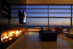 I love the fireplace, I love the wall of windows, I love the VIEW! Can I please have it?