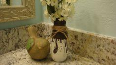 Painted Milk Bottle Soap DispenserLotion Dispenser by ItWorks4Me