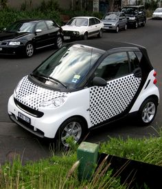 """Dotty Smart Car, AutoSkin  www.decentlyexposed.com.au"" Dressy smart car. Do want. :)"