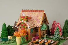 hansel and gretel gingerbread house illustration - Google Search