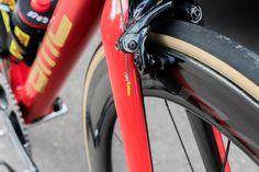 Check Out Greg Van Avermaet's Gold Accented BMC SLR01 http://www.bicycling.com/bikes-gear/2017-tour-de-france/check-out-greg-van-avermaets-gold-accented-bmc-slr01/slide/11