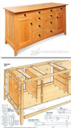 Cherry Sideboard Plans - Furniture Plans and Projects   http://WoodArchivist.com