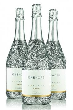 One Hope Wine Sparkling Glitter Bottles and gift boxes for all occasions.