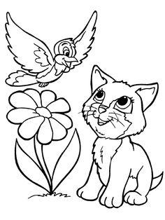 Dibujo para colorear de gatos (nº 1)