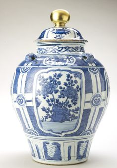 Chinese porcelain jar and cover (1625) ♠️♠️More At FOSTERGINGER @ Pinterest. ♠️♠️