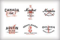 Vintage Americana Logos by RetroSupply Co. on Creative Market