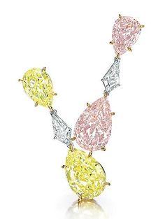 A pair of colored diamond ear pendants. Photo Christie's Image Ltd 2013. A pair of each please!
