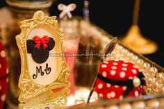 Quadro da Festa Minnie Vermelha da Maria Clara