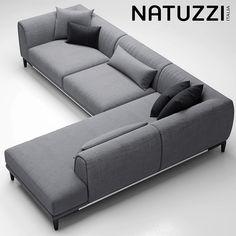 3d sofa natuzzi trevi model
