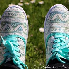 Sapatilha verde de água Sneakers, Shoes, Fashion, Loafers & Slip Ons, Green, Tennis, Moda, Slippers, Zapatos
