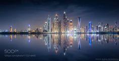 Dubai skyline by sunprojec