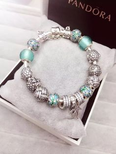 50% OFF!!! $379 Pandora Charm Bracelet Green. Hot Sale!!! SKU: CB01609 - PANDORA Bracelet Ideas