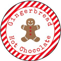 Personalised Glossy Round Christmas Labels Stickers For Gingerbread Hot Chocolate Cone Bags Chocolate Cone, Hot Chocolate Mix, Christmas Labels, Christmas Time, Snowman Soup, Red Candy, Cute Stickers, Make Your Own, Gingerbread