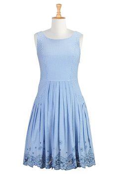 Gingham Check Dresses, Sundresses For Women Womens stylish dress | Party Dresses | Women´s Going Out Dresses | eShakti.com