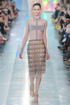Sheer Panels by Christopher Kane Spring 2013 fashion trends