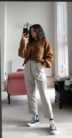 Mode Outfits, Retro Outfits, Cute Casual Outfits, Casual Chic, Winter Fashion Outfits, Look Fashion, Spring Outfits, Korean Fashion, Aesthetic Fashion