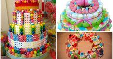 Aprende a elaborar un pastel decorado con golosinas y dulces