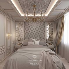 Modern-style design of an apartment: photo Apartment interior in light colours from designers Ruslan and Maria Green (Moscow). Bedroom False Ceiling Design, Luxury Bedroom Design, Master Bedroom Interior, Luxury Interior Design, Interior Exterior, Bedroom Decor, Apartment Interior, Apartment Design, Plafond Design